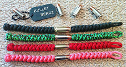 45 Auto And 9mm Bullet Beadz 550 Paracord Bracelet Made From Winchester Remington