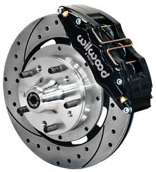Wilwood Disc Brake Kit,front,79-87 Chevy,gmc,buick,olds,6 Piston,12 Drilled,blk