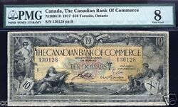 Canadian Bank Of Commerce 1917 10 Signed Rowley Scarce Pmg 8