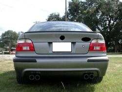 For Bmw E39 5 Series Saloon Rear Boot Trunk Spoiler Lip Wing Sport Trim Lid M5 M
