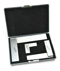 Machinist Square 90andordm Right Angle Engineerand039s 3- Set Din Standard 2 4 6 Igaging