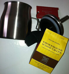 New William Sonoma Grilling/bbq Set Basting Set And Hickory Chips