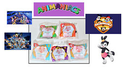 5 Pcs, Mcdonalds Happy Meal Toys. Animaniacs Collection. New. 1994 Series.