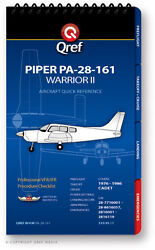 Piper Warrior Ii Pa-28-161 Quick Reference Aircraft Checklist Book By Qref