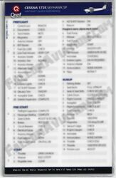 Cessna 172s Skyhawk Sp Quick Reference Aircraft Checklist Card By Qref
