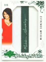 Miriam Gonzalez Letters I Autograph Card 2/5 Benchwarmer Holiday 2012