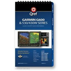 Garmin G600/g500 Quick Reference Checklist Book By Qref