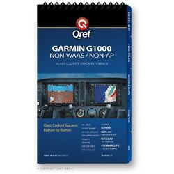 Garmin G1000 Non-waas Quick Reference Checklist Book By Qref