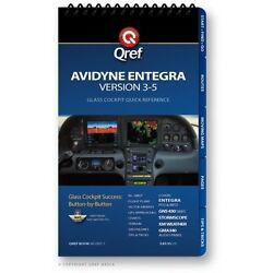 Avidyne Entegra Ver. 3-5 Quick Reference Checklist Book By Qref