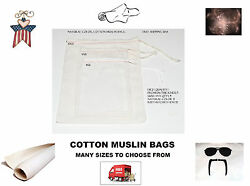 High Quality 4x6 5x8 8x10 Cotton Muslin Bags. Spice,soap Or Craft Bags. Qty Lots