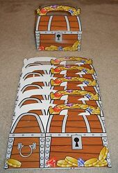 Treasure Chest Treat Boxes Pirate Birthday Party Loot Favors Lot Of 6 12 18 And 24