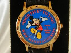 New Disney Mickey Mouse Safety In Motion Employee Cast Member Award Watch