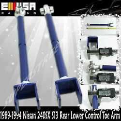 For 89-94 Nissan 240sx S13 Rear Lower Control Toe Arm Kit Blue