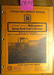 Mckee 3 Point Hitch Multi-purpose Spring Tooth Field Cultivator Base 3a Manual