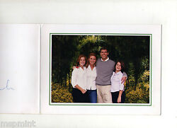 Andrew Sarah Ferguson Fergie Rare Signed Christmas Card With Daughters
