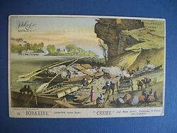 Boraxine Creme Victorian Trade Card, Bazar Grocery, Bellefontaine Oh