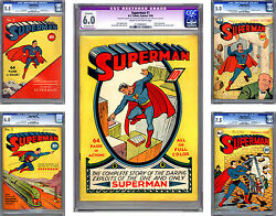 SUPERMAN #1-2-3-4-5 CGC 6.0+ THE *HOLY GRAIL* OF ALL COMICS PAST