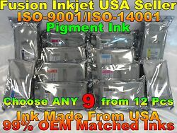 Any 9 Cartridge Fit Canon Imageprograf Ipf 8300 8300s Pfi 704 Ink Tank Not Oem H
