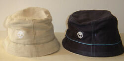 VINTAGE NWT Timberland Bucket Fishing Hat Cap Blue Beige Large Hats Caps Fitted $30.40
