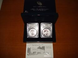 2013-w Silver Eagle West Point Two Coin Set Pcgs Ms70 And Pr69 First Strike