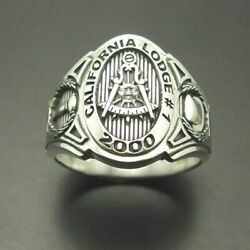 Past Master California Custom Cigar Band Style Sterling Silver .925 Ring 018c