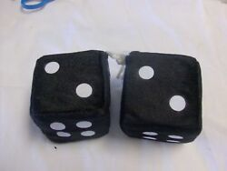 Fuzzy Dice In Black Rear View Mirror Hanging Dice Hot Rods And Customs