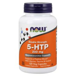 Now Double Strength 5-htp 200 Mg 120 Vcapssupports Positive Moodfresh Usa Made