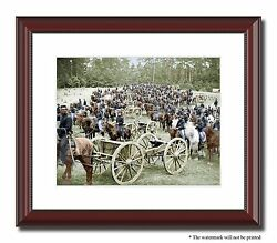 Gibson Artillery Soldiers Union 11x14 Framed Photo Print Color Civil War -00159