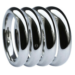 18ct White Gold Wedding Rings X Heavy Court Comfort 2mm 3mm 4mm 5mm 6mm 750 Hm