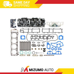 Fit 85-95 2.4 Toyota Pickup Complete Cylinder Head Head Gasket Set W/ Bolts 22re