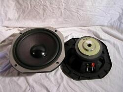2 X Vintage Cast Basket 10 Inch  Woofers Low Frequency Drivers