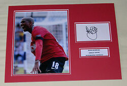 Ashley Young Manchester United Hand Signed Autograph Photo Mount