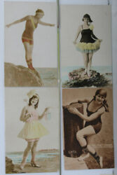 Bathing Beauties Vintage Hollywood Glamour Personalities Type Post Cards C 1910