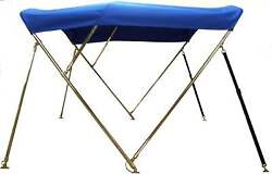 Bimini Top 6and039 Long With Stainless Steel Frame - Sunbrella - You Pick The Color