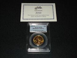 2010-w 10 Buchananand039s Liberty Pcgs Ms70 First Spouse Gold