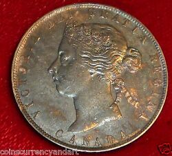 1901 Canada 50 Cents Silver Coin Amazing Toning High Grade