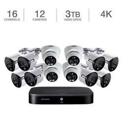 Lorex 16 Channel 4k Uhd With 3tb Hdd And 12 - 4k Bullet Cameras Security System