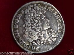 1693 2/3 Thaler Silver Coin Scarce A Beauty From German States Brandenburg
