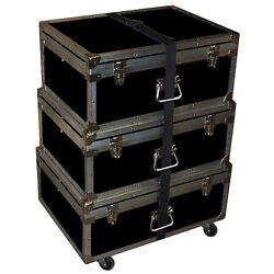 Triple Accessory Case Rolling Stack 1/4 Medium Duty - Many Colors - Black