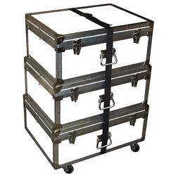 Triple Accessory Case Rolling Stack 1/4 Medium Duty - Many Colors - White