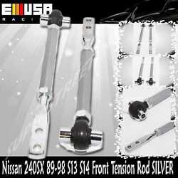 For Nissan 240sx 89-94 S13/ 95-98 S14/90-96 300z Front Pillow Tension Rod Silver