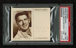 Psa 8 Ronald Reagan 1948 Dinkie Grips Card 16 Complete With Tab