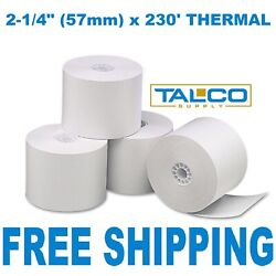 Hypercom T7 Plus 2-1/4 X 230and039 Thermal Paper - 24 Rolls Free Priority Shipping