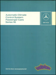 MERCEDES SHOP SERVICE REPAIR MANUAL 116 AIR CONDITIONING CLIMATE CONTROL BOOK