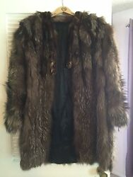 Women's Vintage Genuine Fur Coats, Wrap, And Hand Muff- 3 Separate Coats