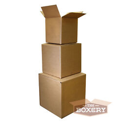 100 8x6x4 Corrugated Shipping Boxes - 100 Boxes