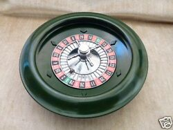 Unusual Green Color Coloured Bakelite Roulette Wheel From Adult Toy Casino