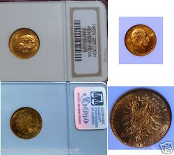 Gold Coin 1872a 10m Ngc Ms66 Germany Prussia Free Shipping