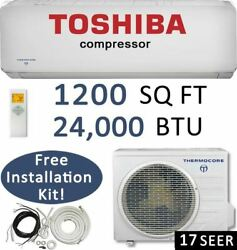 24000 BTU Ductless Air Conditioner Heat Pump Mini Split: 16 SEER  24000 BTU