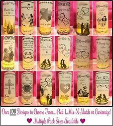 Personalized Vellum Luminaries Wedding Table Centerpieces Decorations Numbers 1